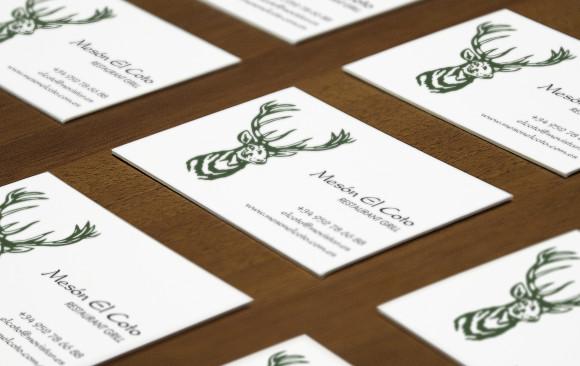 Meson El Coto business card