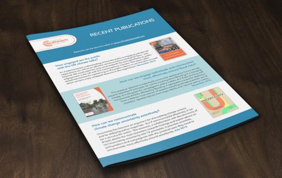 Publications brochure cover